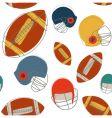 football pattern vector image