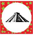 mayan pyramid of kukulcan el castillo in chichen vector image