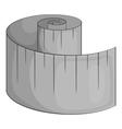 Measuring tape icon gray monochrome style vector image