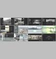 minimal presentation templates vector image