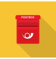 postbox Flat design vector image