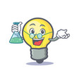 professor light bulb character cartoon vector image