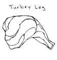 raw turkey leg realistic vector image