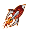 Rocket classic resize vector image