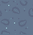 seamless pattern with circles and paisley on a vector image