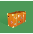 Traveling suitcase vector image