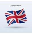 United Kingdom flag waving form vector image