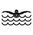 Butterfly swimmer icon simple style vector image
