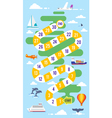 kids world tour board game vector image