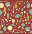 Seamless pattern with kitchen items vector image