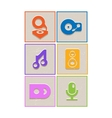 Flat music icons vector image vector image