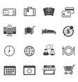 tourist travel icons set vector image