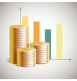 theme of business with cents vector image