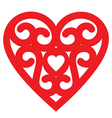 pattern heart vector image vector image
