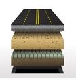 section of asphalt road vector image