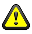 yellow warning sign vector image vector image