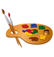 paint palette vector image vector image
