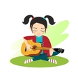 Girl plays guitar vector image