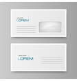 White envelope isolated on a gray background vector image vector image