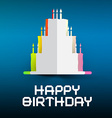 Happy Birthday Retro with Paper Cake and Can vector image vector image