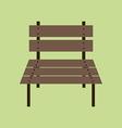 Garden Bench Icon vector image