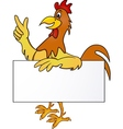 rooster cartoon vector image vector image