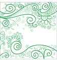 Green flower background vector image vector image