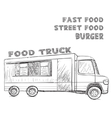 Hand drawn food truck Delivery service vector image