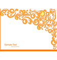 Abstract floral art vector image