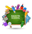 back to school background education vector image