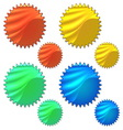 Colourful set of halogram sticker vector image