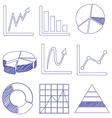Different graphs vector image