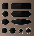 Elegant Black-Silver Web Buttons vector image