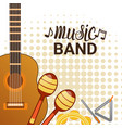 music band instruments set banner musical concert vector image