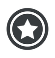 Round black star sign vector image