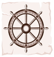 Ship wheel retro resize vector image