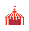 striped tent for selling food products with flag vector image