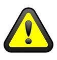 yellow warning sign vector image