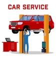 Car services - maintenance repair and diagnostics vector image