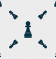 Chess Pawn sign Seamless pattern with geometric vector image