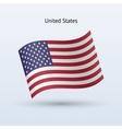 United States flag waving form vector image