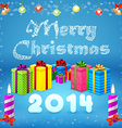 Merry Christmas background 2014 vector image vector image