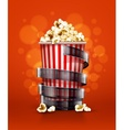 cinema concept with paper vector image vector image