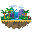 Uninhabited island jungle vector image