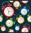 alarm clock pattern background vector image