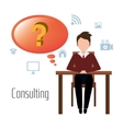 Business professional consulting vector image