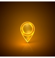 golden map marker vector image