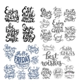 hand lettering inscription set motivation and vector image