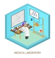 Medical laboratory scientist Isometric flat vector image