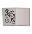 Love is it in air Hand-lettering text Handmade vector image